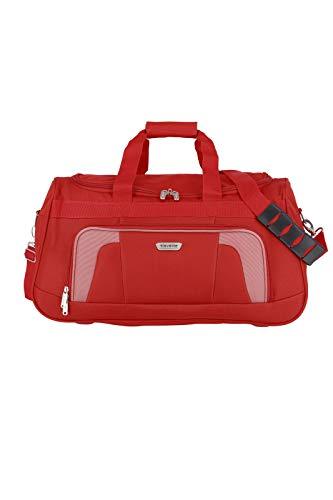 Travelite Reisetasche 58 cm mit Schultergurt, Gepäck Serie ORLANDO: Klassische Weichgepäck Reisetasche im zeitlosen Design, 098486-10, 50 Liter, 0,9 kg, rot