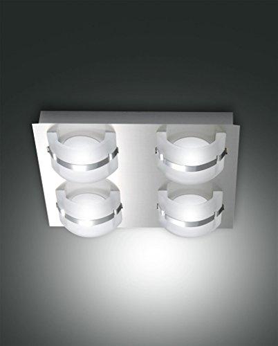 Fabas Luce Niside LED Deckenleuchte, 20W, nickel satiniert