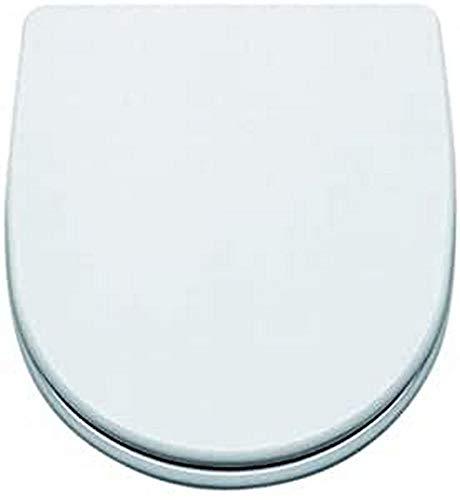 Gala G5145001 Tapa y Asiento Fijo para Inodoro Coleccion Bacara, Acabado Blanco (Ref 51450), 44 x 6 x 38.8 cm