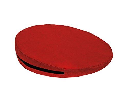 Keilkissen, RUND Ø 36 cm, 100% Baumwollbezug! - rot - Kissen Sitzkissen Sitzkeilkissen Sitzkissen Sitzkeil