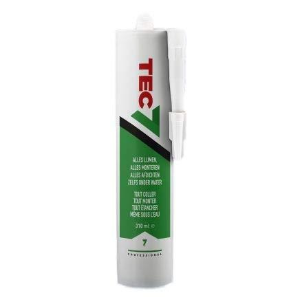 Tec7 Klebstoffe/Kleben, Montieren und Abdichten | 310ml | Einfach zu verarbeiten und für viele Materialien (Weiß)