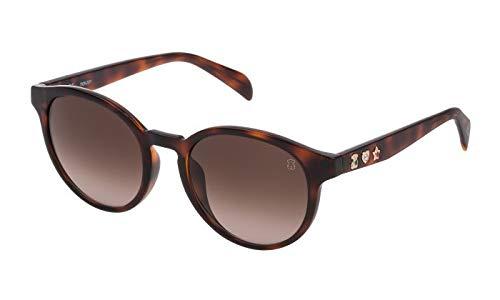 TOUS Stoa24s, Gafas De Sol Mujer, Shiny Dark Havana (0752)