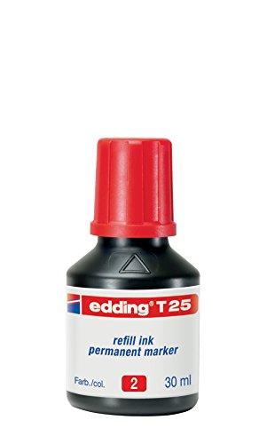 Edding 4-T25002 Nachfülltusche T 25, für Permanentmarker 30 ml, rot