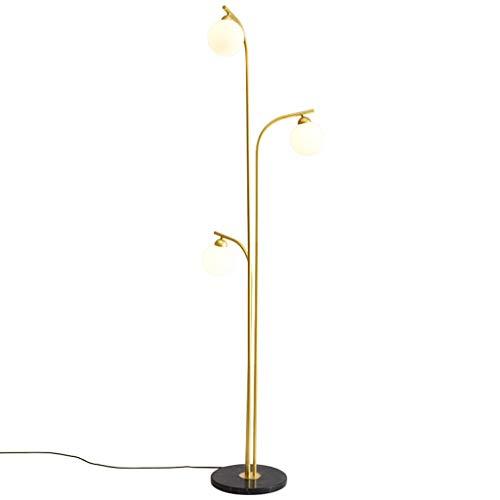 @ Staande lamp gouden decoratie huis woonkamer slaapkamer vissen leeslamp vloerlamp plafondlamp marmer vloerlamp 3 koppen A+++