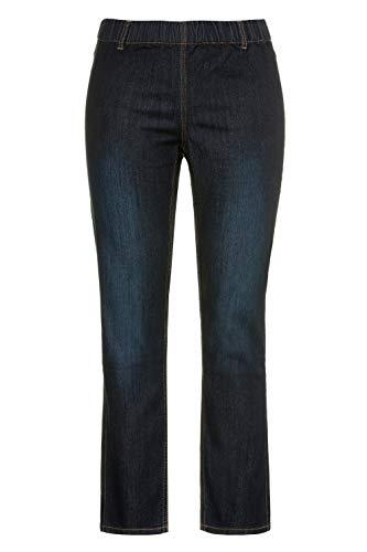 Ulla Popken Große Größen Damen Skinny Jeans Jeggings Denim m.Gürtelschlaufen Blau (Fashion Denim 94), 48