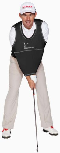 The Golf Swing Shirt Black #7 240-280 lbs Unisex Golf Training Aid Trainer