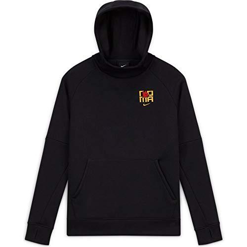 NIKE Roma Y NK Gfa FLC Po Hood Sweatshirt, Unisex niños, Black/University Gold no Sponsor, L