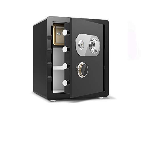 ONEBUYONE Schlüsseltresor Mit Zahlencode Aussen, Tresore Mechanisches Passwort Aufbewahrungsfach Mit Großer Kapazität Unsichtbare Tresore Mit Abnehmbarer Trennwand,Schwarz