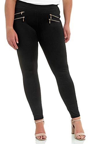 Elara Miss Anna Damen Stretch Hose Skinny Jegging Chunkyrayan A11/A55 Black 48 (4XL)