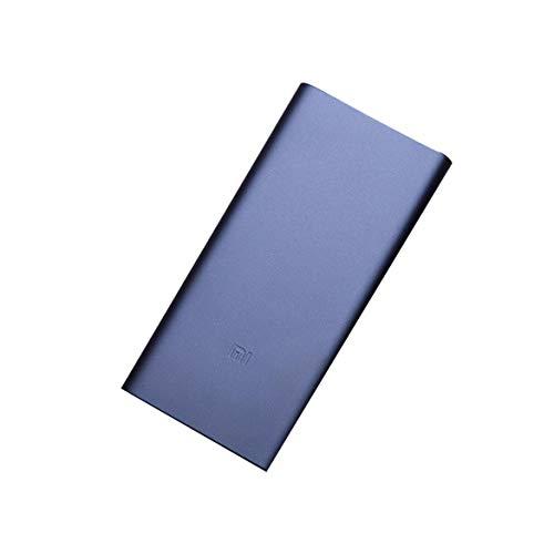 JohnJohnsen Doble Salida de Interfaz USB Bidireccional Carga rápida Base de polímero de Litio Aleación de Aluminio Concha metálica Fuente de alimentación móvil 2 (Negro y Naranja)