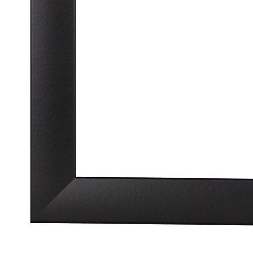 Cadre photo pn35 48 x 64 ou 64 x 48 cm en verre synthétique anti-reflets et arrière, 35 mm de largeur MDF Barre multiprise avec décor folienummantelung, MDF, noir, 48 x 64 cm