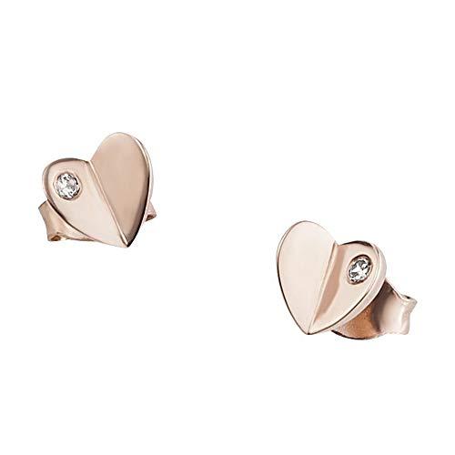 cai Damen Ohrstecker 925/- Sterling Silber 0,57cm rotvergoldet Zirkonia rot 135210002