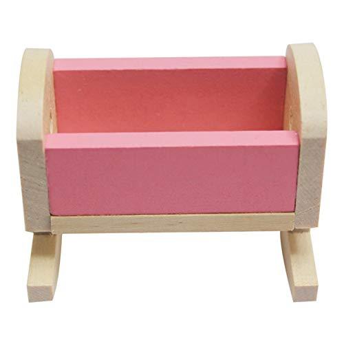 Raspbery Juego de Muebles de Dormitorio de casa de muñecas de Madera Rosada para niña - Juguete con literas Silla de Juguete para niños Regalo de Juego Infantil - Wetour