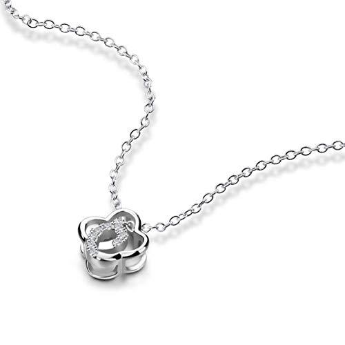 Anhänger Halskette Charm 100% 925 Sterling Silber Kette Halskette Lucky Silver Jewelry Lady Geschenk