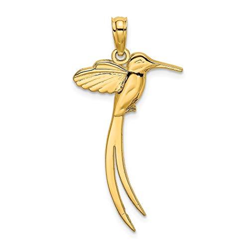 14ct gouden vogel met lange staart veren hoge Poolse charme
