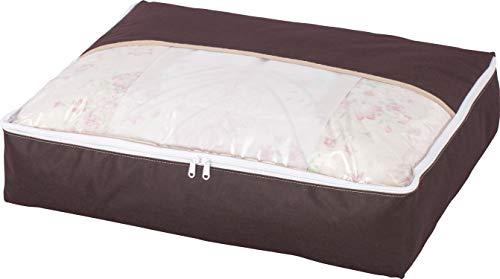 アストロ 羽毛布団 収納袋 シングル用 ブラウン 不織布 コンパクト 優しく圧縮 131-27