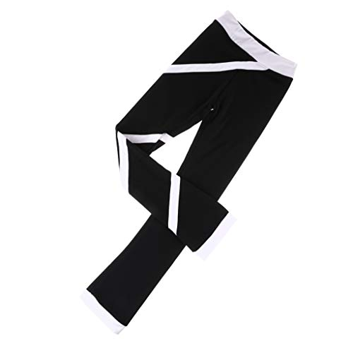 perfk Frauen Mädchen Eislaufbekleidung Einslaufen Hose - weiß 140cm