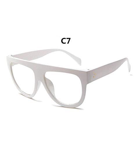 YUFUD Occhiali da Sole Occhiali da Sole Vintage Grande Full Frame retrò Donna Cat Eye Eyewear oculos de sol gafas G C