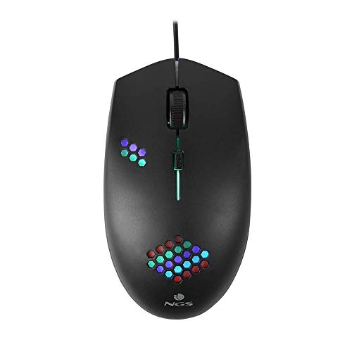 NGS GMX-120 Mouse Gaming con Cavo USB, Mouse Ottico 800 1200dpi con Luci LED a 7 Colori