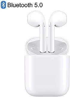 【2020最新 Bluetooth5.0】 Bluetooth イヤホン ワイヤレス TWS ステレオ マイク付き スポーツ ワイヤレス 高音質 自動で接続ペアリング両耳通話 6時間連続音楽再生可能iPhone/Airpods/Android対応 (白)