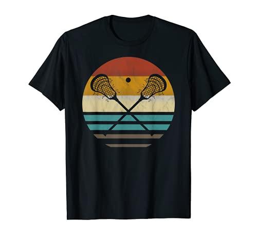 Lacrosse Vintage Retro Lacrosse Stick Sun Gift T-Shirt
