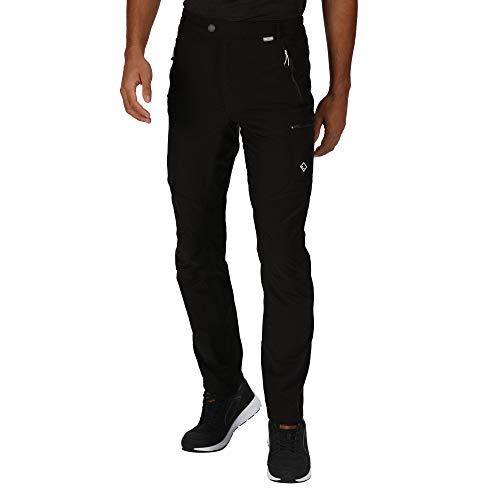Regatta Herren Highton Water Repellent Multi Pocket Active Hiking Trousers, Black, 32W 30L EU