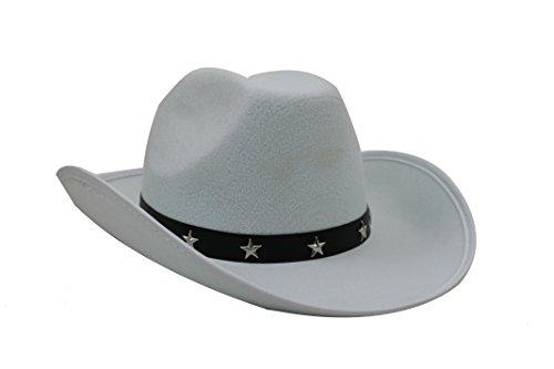 Ilovefancydress -  Sombrero de vaquero con tachuelas de estrella (Juguete)