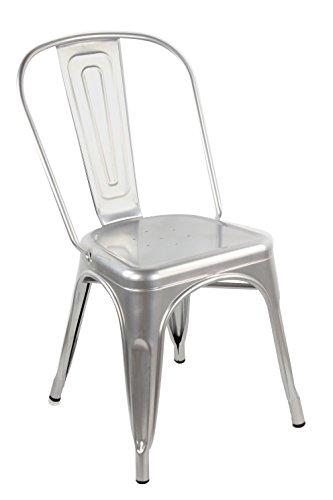 RREDinITALY Set 4 Stühle Replica TOLIX transparent lackierter Stahl