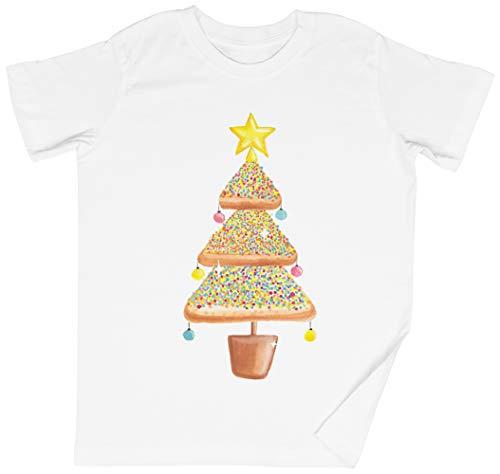Pan de Molde Navidad Árbol Blanca Niños Chicos Chicas Camiseta Unisexo Tamaño...