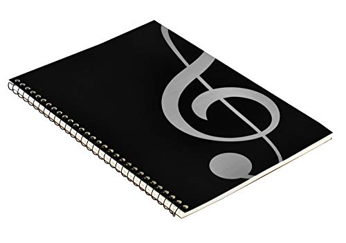 MOREYES Blank Sheet Music Composition Manuscript Staff Notebook with 50 Pages 26x19cm (Music clef notebook)