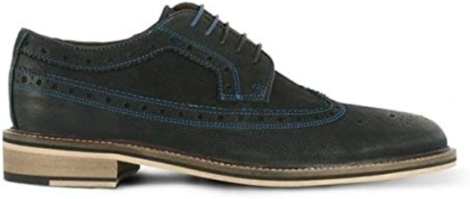 Azor Wendell Mens Contrast Stitch Brogue shoes Black