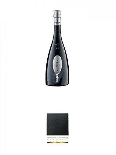 Alexander Bianca Grappa 3,0 Liter + Schiefer Glasuntersetzer eckig ca. 9,5 cm Durchmesser