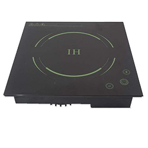 XIUYU Placa de inducción hogar Integrado y Olla Caliente Cocina eléctrica Comercial 2200W, Control táctil del Panel microcristalina, Negro (Color : Black)