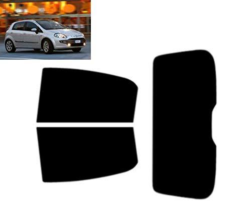 Tintcom.com Pellicola Oscurante Vetri Auto Pre-Tagliata per-Fiat Punto Evo 5-Porte 2009-2012 Vetri Posteriori & Lunotto (20% Fumo Scuro)