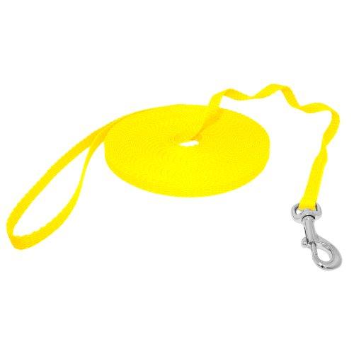 Hunde Design Mini Schleppleine Gelb 15m