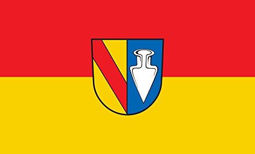 Unbekannt magFlags Tisch-Fahne/Tisch-Flagge: Denzlingen 15x25cm inkl. Tisch-Ständer