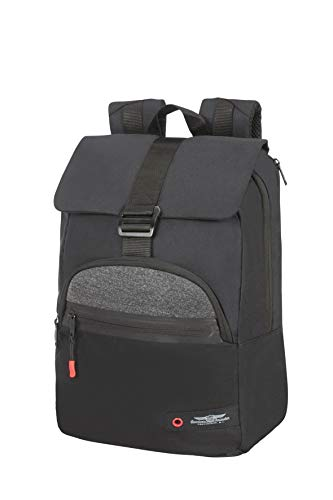 American Tourister City Aim Zaino Casual, S (14'), Nero (Black)