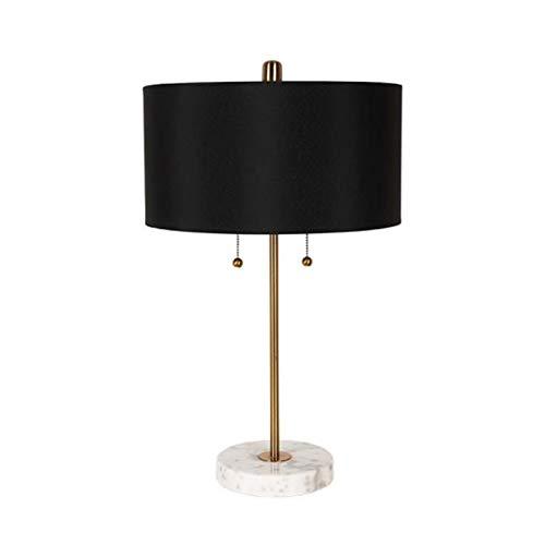 OWEM Lámpara De Mesa Lámpara De Escritorio Minimalista Moderna Personalidad Nórdica Creativa Hierro Forjado Mármol La Lámpara De Noche E27 Es Fácil De Instalar Se Utiliza para Sala Estar