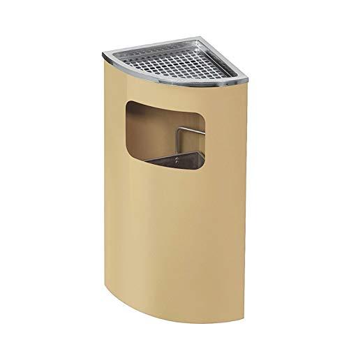 ZHONGTAI Mülleimer Mülleimer aus Edelstahl mit Gitter Aschenbecher, Düsterstaub im Freien Abfallverwertung Kompostbins für den kommerziellen Gebrauch Schwingdeckeleimer