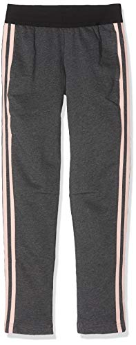 adidas Mädchen Hose Dj1393 M grau (Dark Grey Heather/Haze Coral) / Blanco