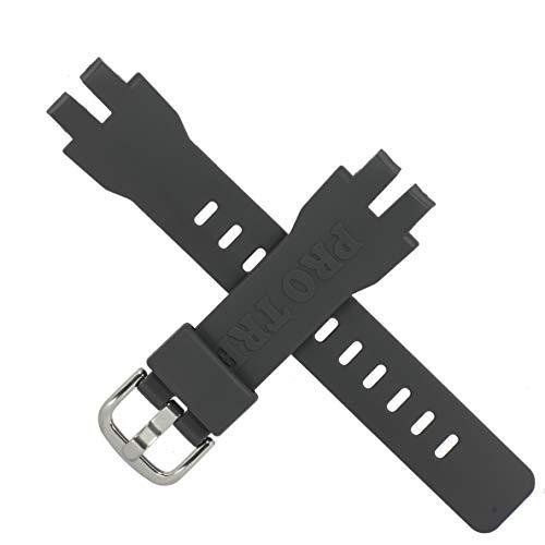Casio 10570856 - Correa de reloj para PRG-330 PRG 330, color gris oscuro