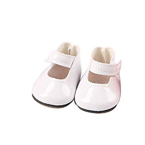 GCDN Puppe Schuhe 18in Mini mädchen Spielzeug DIY Geschenk Mode Baby Dekoration pu Nette Stiefel Design leichte Feste zubehör(Weiß)