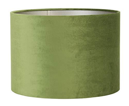 Light & Living lampenkap cilinder 50-50-38 cm Velours olijfgroen voor woonkamer eetkamer slaapkamer enz.
