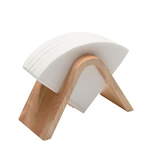 Coffee filterhouder bamboe koffiefilter papierlade plank staan voor espressomachine,Brown