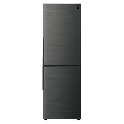 シャープ 冷蔵庫 310L(幅56cm) プラズマクラスター搭載 2ドア メガフリーザー ブラック系 SJ-AK31F-B