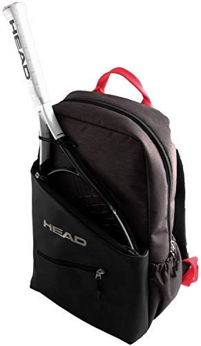 ヘッド(HEAD) テニス リュック (ラケット1本収納可能) レディース用 バックパックグレイ×レッド 283289