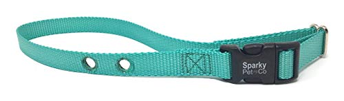 Sparky Pet Co Compatible PetSafe Replacement 3/4' Nylon Strap with 2 Holes Spaced at 1.25' Apart (Teal)