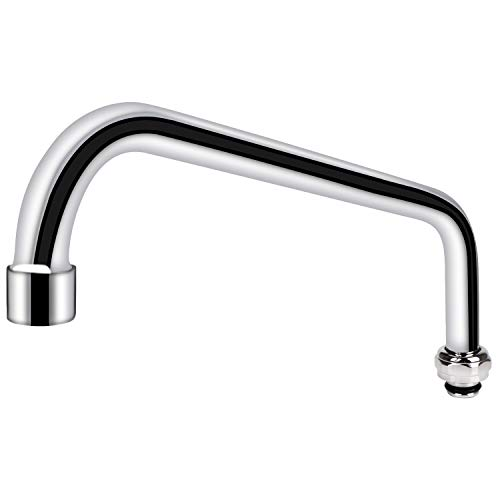 COOLWEST 12 Inch Swing Swivel Spout Replacement Kit for Commercial Kitchen Sink Faucet, 2.2 GPM Gooseneck Spout Nozzle Replacement Part, Chrome Finish