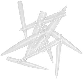 FlyItem 120 Pcs Stiletto Extra Long Sharp False Nail Art Tips Acrylic Fake Nail Tools Kit (Clear)