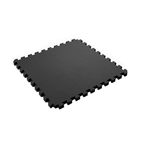 "IncStores Exercise Tiles 2ft x 2ft Portable Interlocking Foam Tile Mats (1/2"" - 6 Tile Pack Black)"
